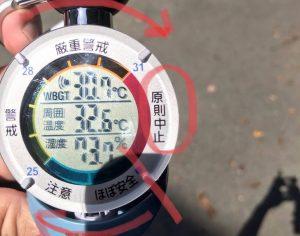 WBGT計(熱中症指数計)を使ってみました。